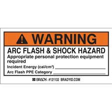 brady part 121132 warning osha 2 x 4 arc flash shock labels warning. Black Bedroom Furniture Sets. Home Design Ideas