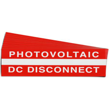Pre-Printed SOLAR DC DISCONNECT Warning Labels