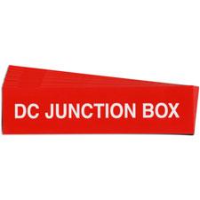 Pre-Printed SOLAR DC JUNCT BOX DISC Warning Labels