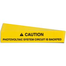 Pre-Printed SOLAR CIRCUIT BACKFED Warning Labels