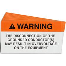 Pre-Printed SOLAR BIPOLAR ARRAY Warning Labels