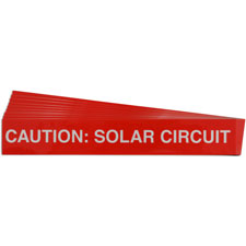 Pre-Printed SOLAR CIRCUIT Warning Labels