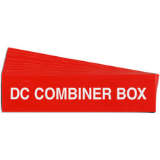 Pre-Printed SOLAR DC COMBINER BOX Warning Labels