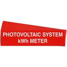 Pre-Printed SOLAR KWH METER Warning Labels