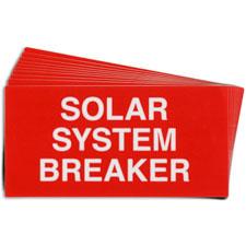 Pre-Printed SOLAR BREAKER Warning Labels