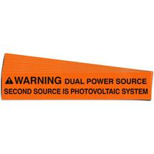 Pre-Printed SOLAR DUAL POWER Warning Labels
