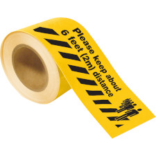 Please Keep 6 ft Distance Floor Tape