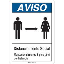 Aviso Distanciamiento Social Sign