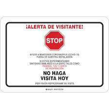 Alerta De Visitante Sign