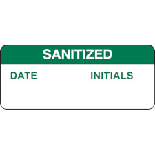 Sanitized Write-On Inspection Labels