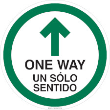 Bilingual One Way Aisle Floor Marker