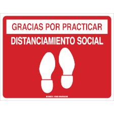 Gracias Por Practicar El Distanciamiento Social Floor Marker