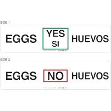 Bilingual Eggs In Stock Sign