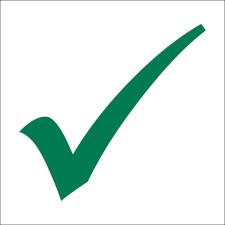 Green Seating Social Distancing Check Marks