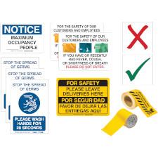 Customer Social Distancing Signs Kit
