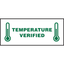Temperature Verified Write-On Label