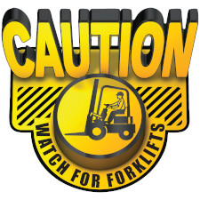Caution Watch For Forklifts 3D Floor Sign