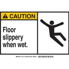 graphic regarding Wet Floor Signs Printable known as Brady Slip, Holiday vacation and Surface Problem Chance Indicators