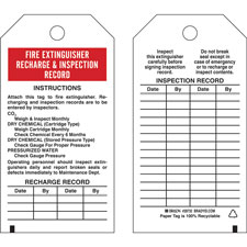 graphic regarding Printable Fire Extinguisher Inspection Tags titled Recharge and Inspection History Tags: Fireplace EXTINGUISHER RECHARGE AND INSPECTION Background: