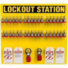 36-LOCK BOARD WITH STEEL PADLOCKS-51196