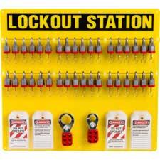 36-LOCK BOARD WITH STEEL PADLOCKS-51196