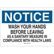 Bathroom Signs Cleanliness brady personal hygiene and bathroom signs | bradyid