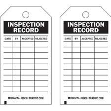 Inspection & Material Control Tags-86438