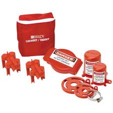 Includes 2 Safety Padlocks and 2 Tags 102692 Brady Gate Valve Lockout Pouch Kit