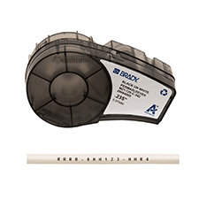 M21-250-C-342 Compatible with BMP21-PLUS Label Printer 0.439 Width and LABPAL Printers ID PAL 7 Length - Black On White Sleeves Brady PermaSleeve Heat-Shrink Polyolefin Wire Marking Sleeves