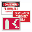 Fire Emergency and Disaster Signs
