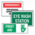 First Aid and Eyewash Signs