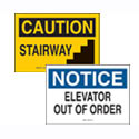 Stairwell and Elevator Signs