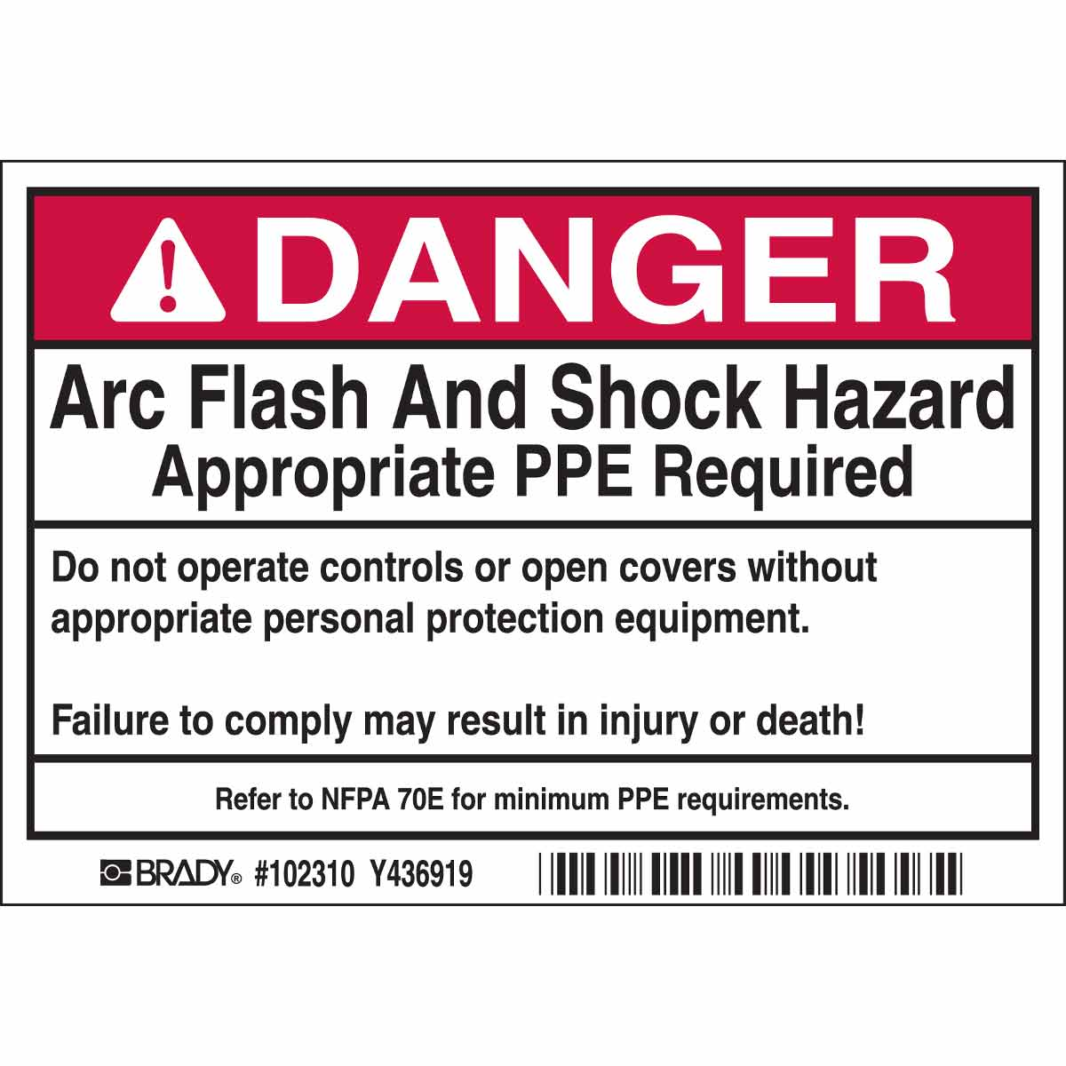 It's just a graphic of Impertinent Arc Flash Hazard Label