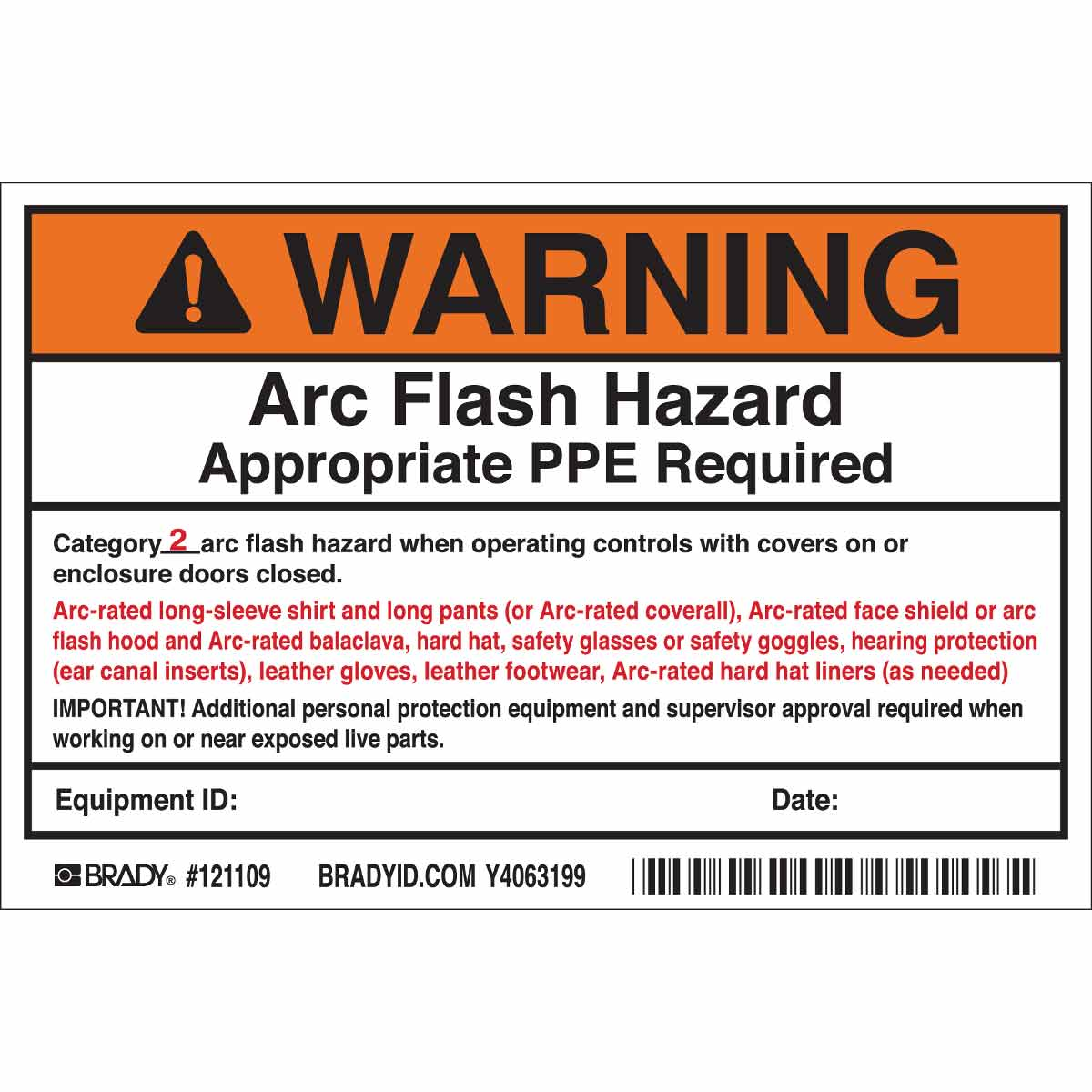 It's just a picture of Challenger Arc Flash Warning Label