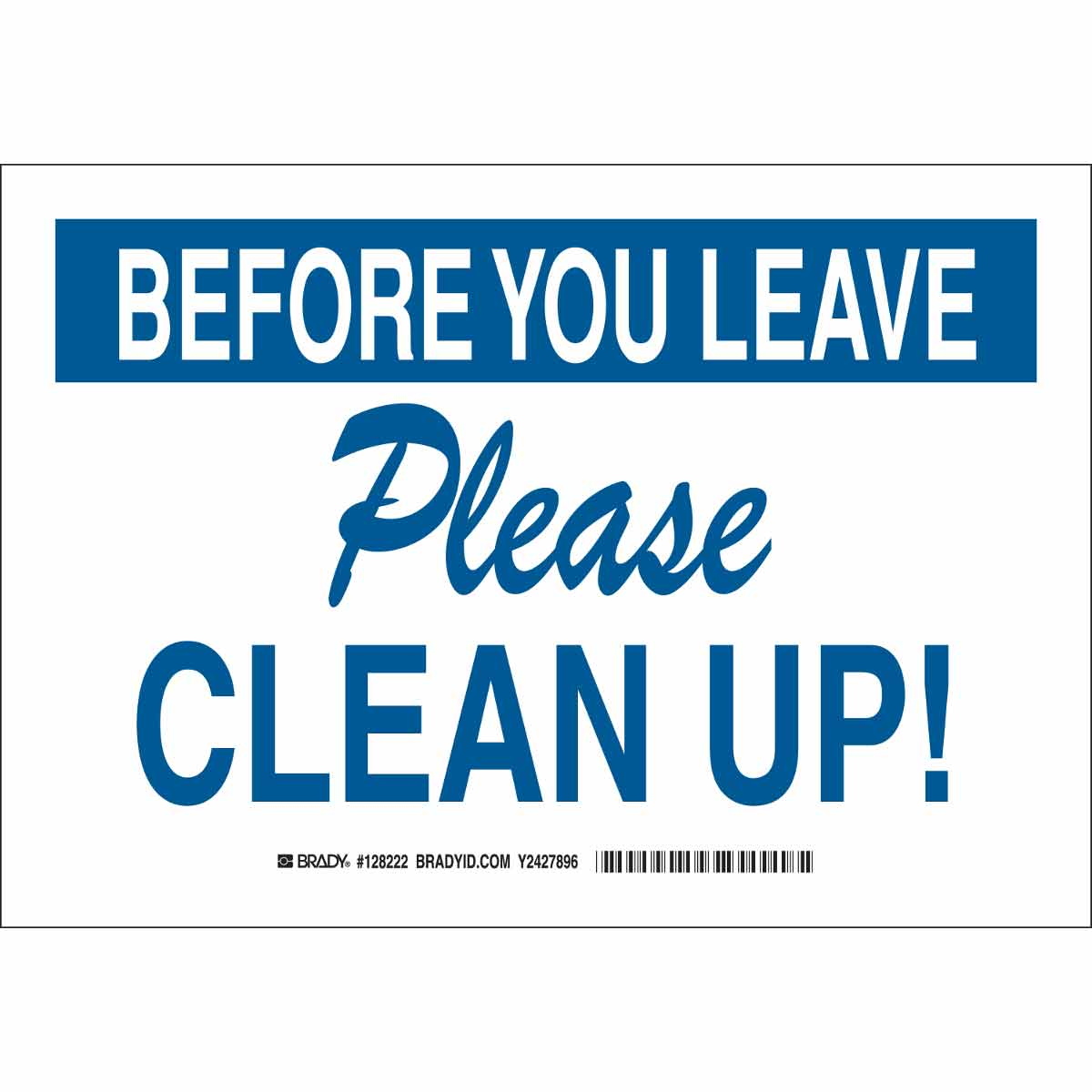 Clean Office Kitchen Signs: Before You Leave Please Clean Up