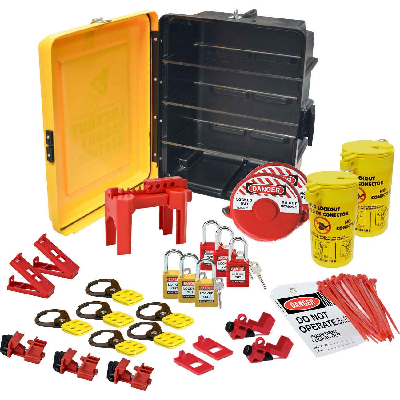 Brady Part 134036 Lockout Tagout Station Equipment