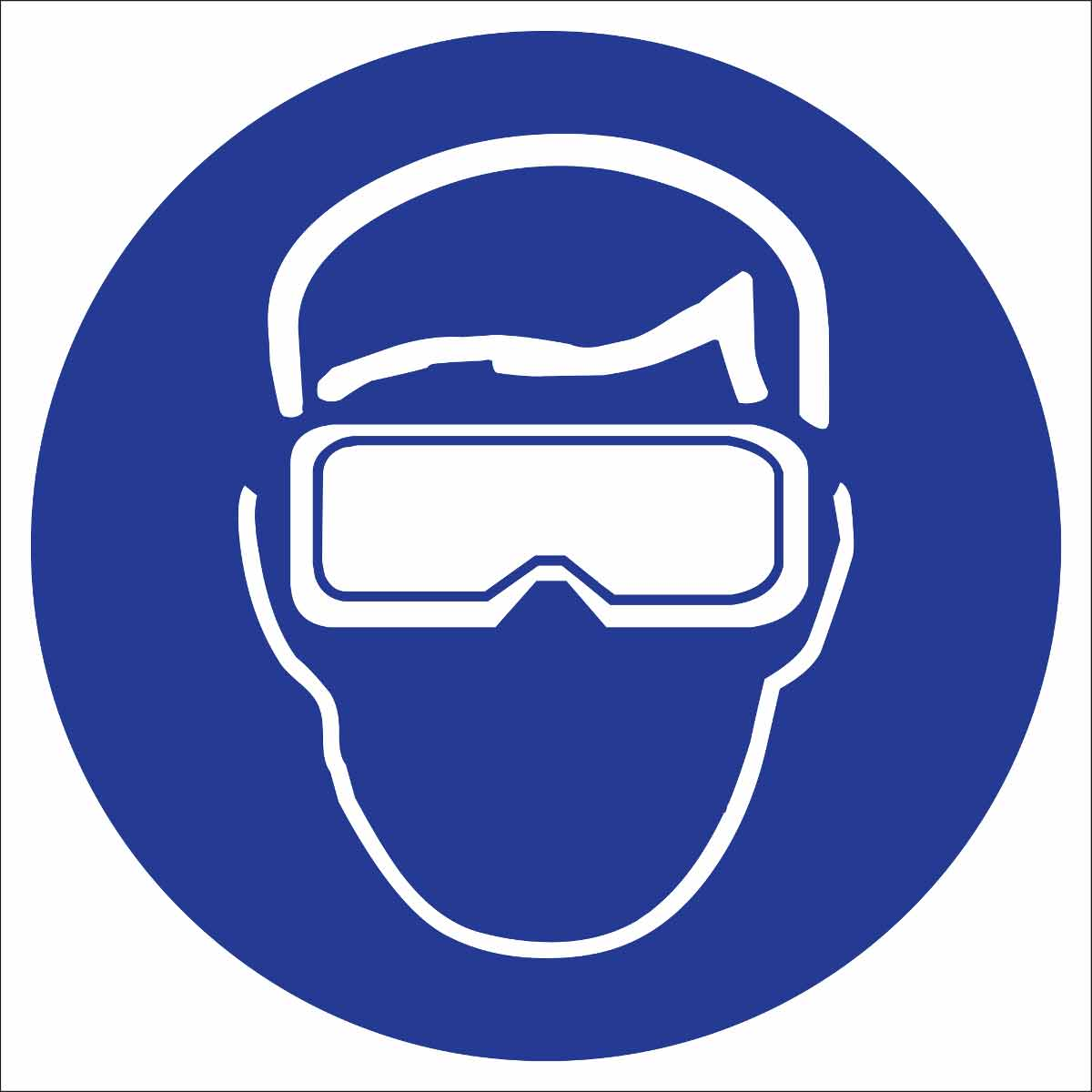 brady part 58525 safety goggles symbol labels bradyidcom
