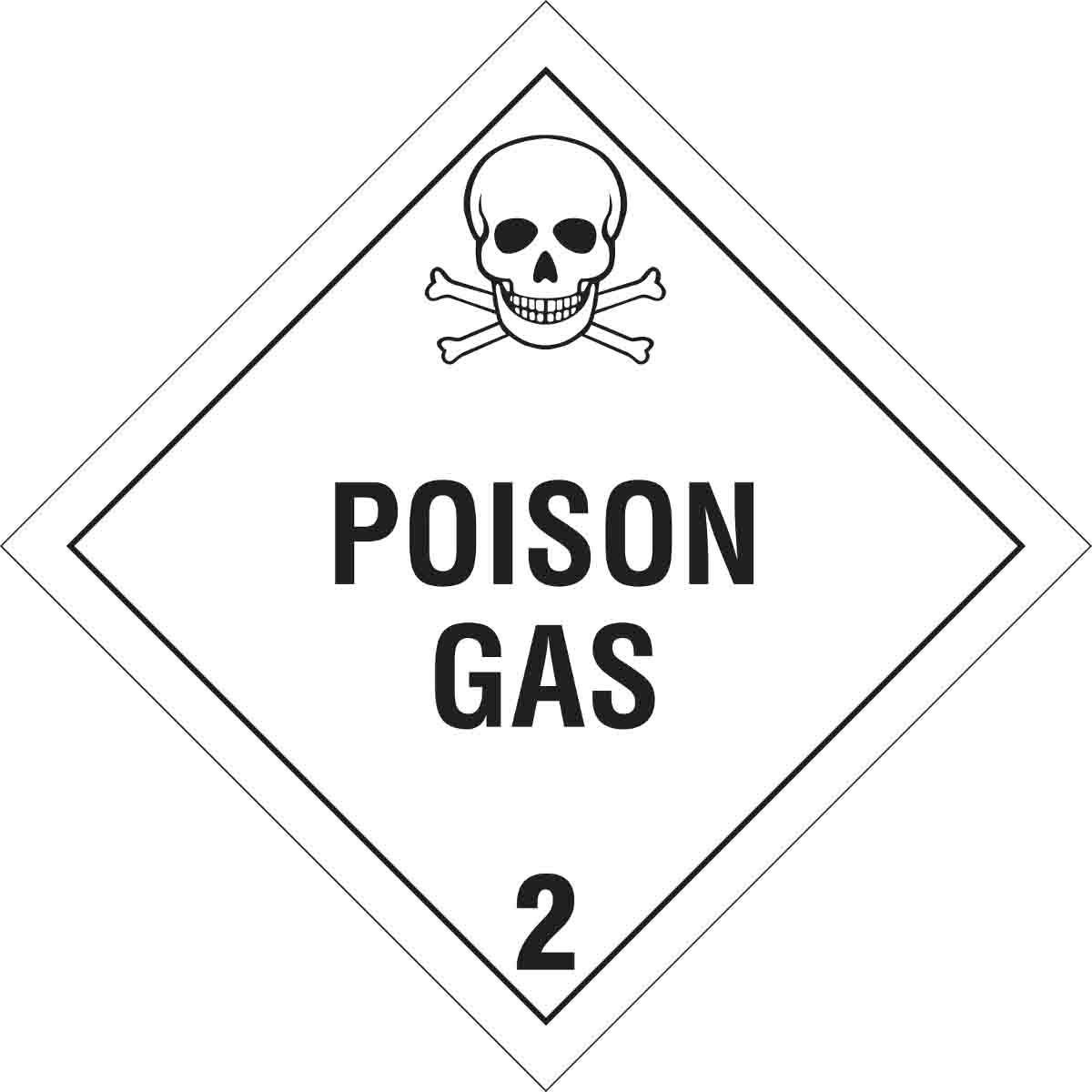 brady poison gas 2 sign