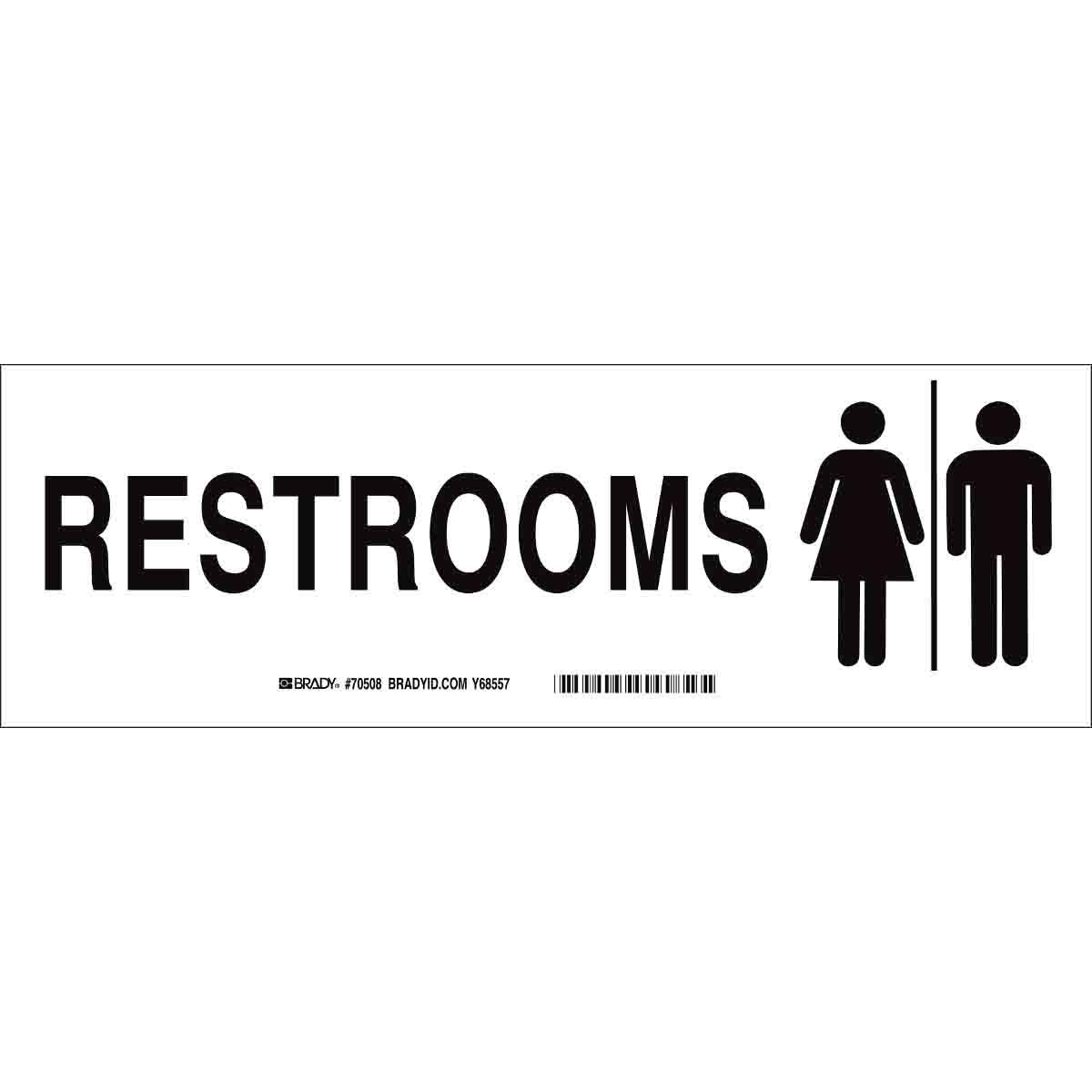 brady restroom sign