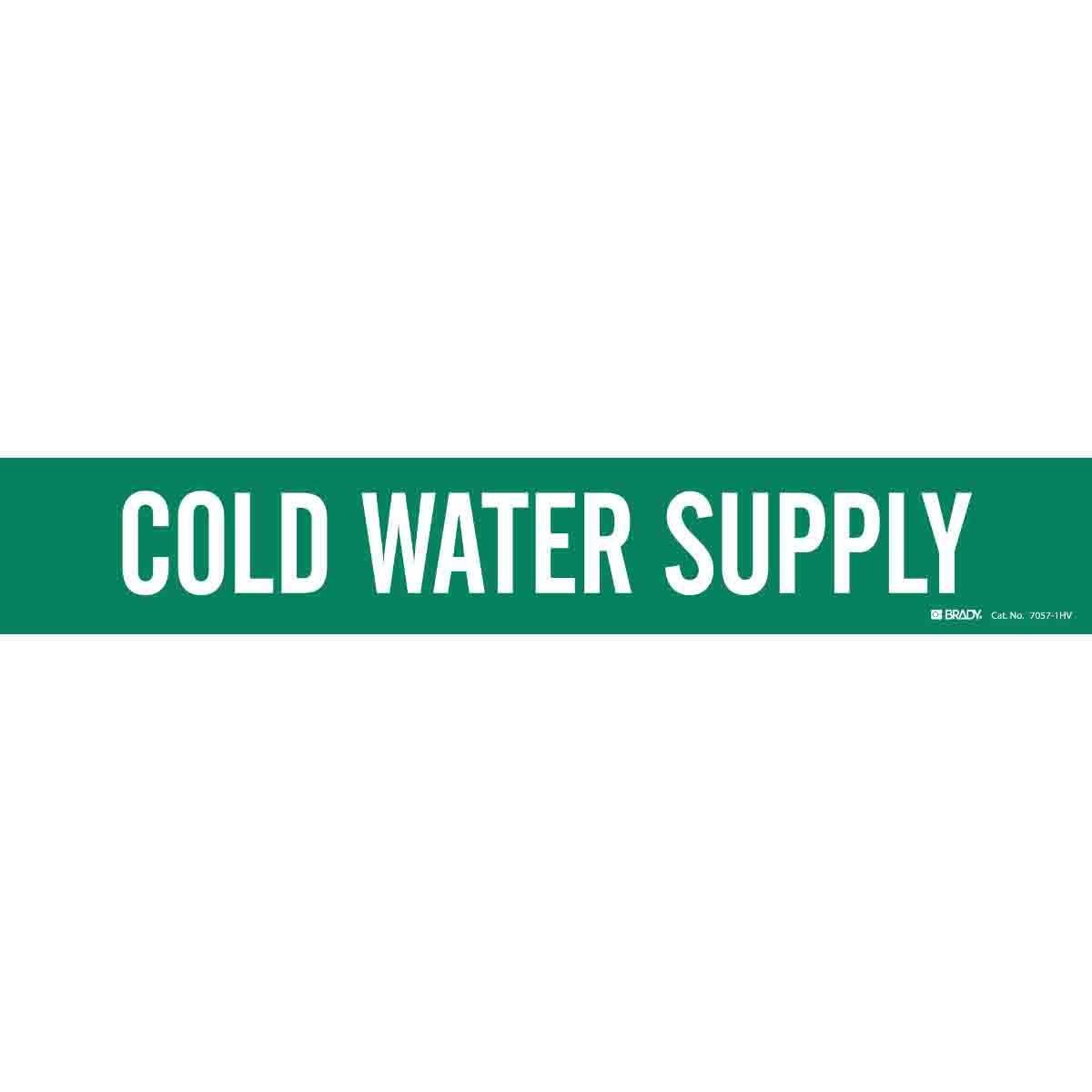 Brady Part 7057 1hv 81245 Cold Water Supply Pipe