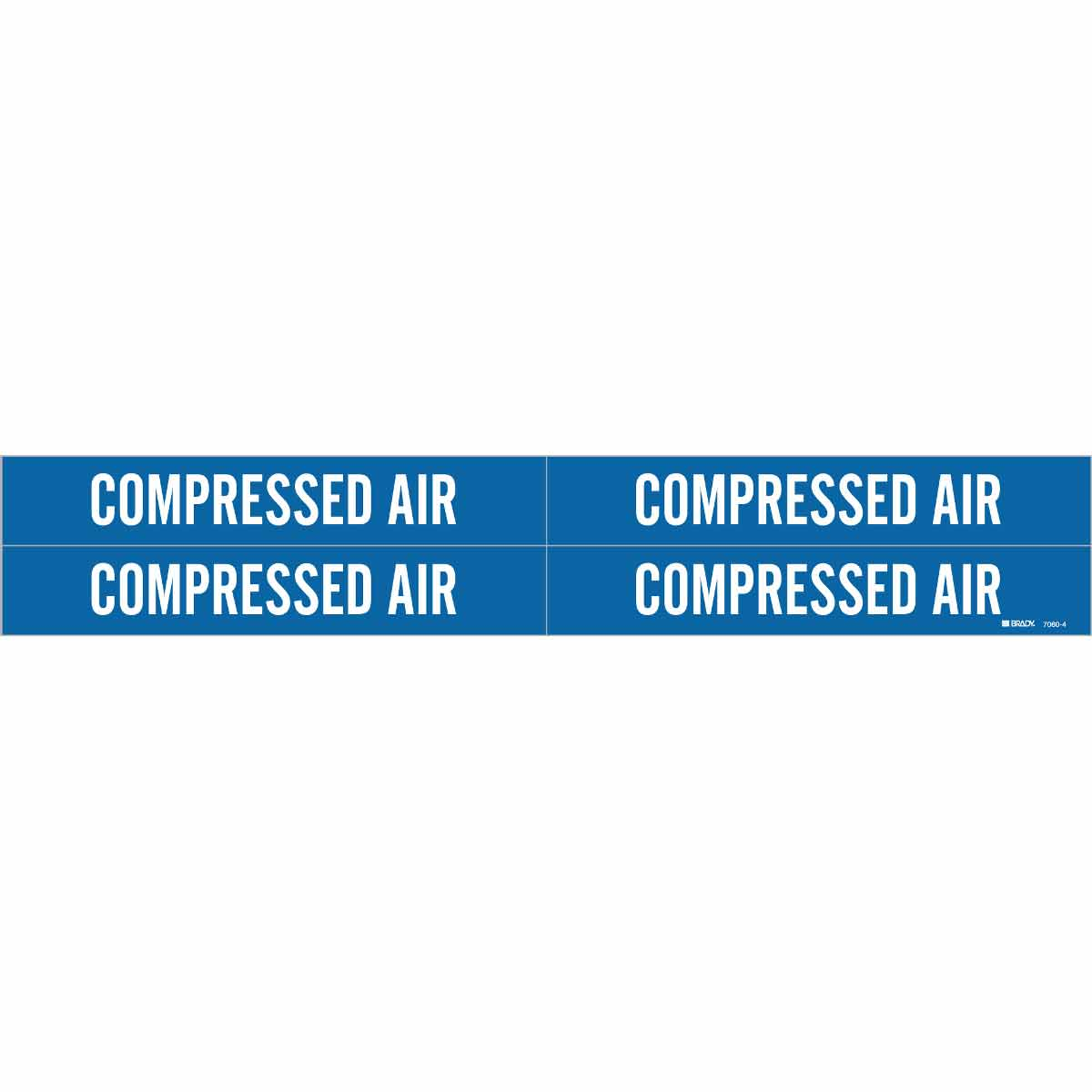 Brady Part 7060 4 77277 Compressed Air Pipe Marker